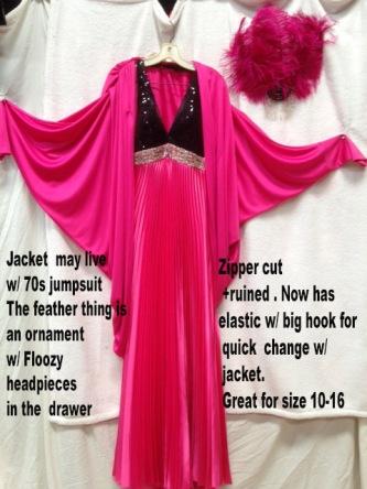 Gown Pinkblack
